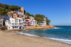 Sa Tuna, a fishermen village in Costa Brava Stock Photos