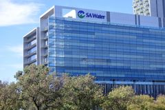 SA Water`s Headquarters  Adelaide South Australia. SA Water`s Headquarters.  SA Water is a South Australia government business enterprise. It manages, maintains royalty free stock photo