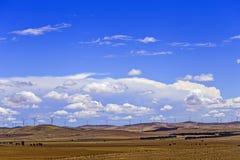 SA Wind farm endless fields Stock Photos