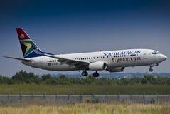 SAA Boeing 737-844 - ZS-SJU Stockfotografie