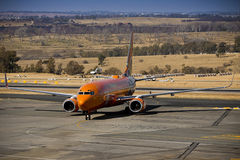 SAA Mango - Boeing. Airspace becomes cyberspace in an African first Royalty Free Stock Photo