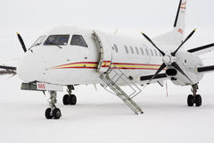 Saab 340 turbopropeller airplane in the Arctic Stock Image