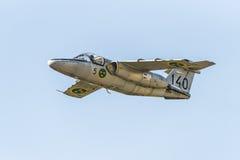 SAAB 105 avions d'entraîneur de jet Images stock