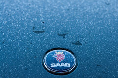 Saab car in winter Stock Photography