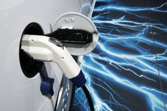Saab ePower plugged at Paris Motor Show Royalty Free Stock Images