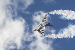 Saab JAS 39C Gripen acrobatics Royalty Free Stock Photos