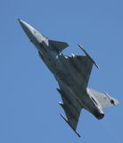 Saab JAS 39 Fighter at Airshow Royalty Free Stock Photos