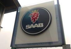 SAAB-Logo stockbilder