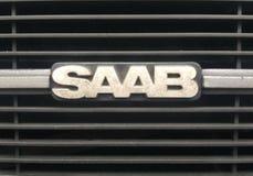 SAAB logo. Old - swedish car stock images