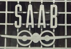 SAAB logo. Old - swedish car royalty free stock photo