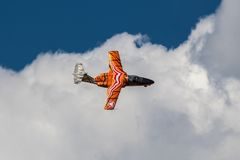 SAAB 105 OE display during Radom Air Show 2013 Royalty Free Stock Images
