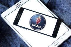 Saab samochodu logo Fotografia Royalty Free