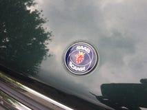 Saab Scania emblem royaltyfri foto