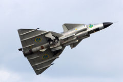 Swedish Saab Viggen flight Stock Image