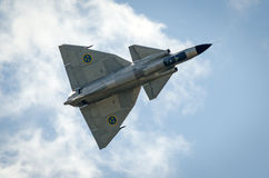 Saab 37 Viggen w locie Zdjęcie Royalty Free