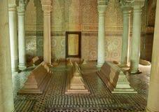 Saadiens坟茔在马拉喀什。 摩洛哥。 免版税库存图片