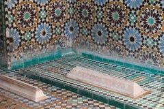 Saadian坟茔,马拉喀什,摩洛哥 库存照片