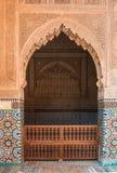 Saadian坟茔,马拉喀什,摩洛哥 免版税库存照片