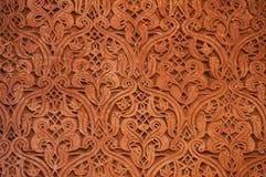 Saadian坟茔建筑细节在马拉喀什 免版税库存图片