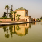 Saadian garden pavilion of the Menara gardens in Marrakesh ,Morocco Stock Photography