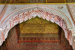 Saadian-Gräber in Marrakesch Stockbild