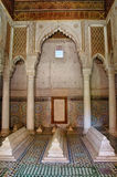 Saadian gravvalv i Marrakech arkivbilder