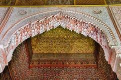 Saadian gravvalv i Marrakech fotografering för bildbyråer