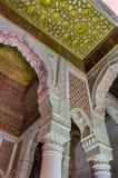 Saadian gravvalv i Marrakech royaltyfri foto