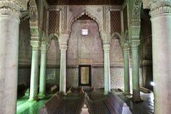 Saadian gravvalv i Marrakesh - centrala Marocko Royaltyfria Foton
