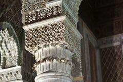 Saadian gravvalv i Marrakesh - centrala Marocko Royaltyfri Foto