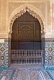 Saadian gravvalv i Marrakesh - centrala Marocko Royaltyfri Fotografi