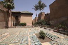 Saadian grobowowie w Marrakech zdjęcia royalty free