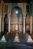 Saadian tomb mausoleum in Marrakech, Morocco. Saadian Tombs, an example of Moorish architecture in Marrakesh, Central Morocco, North Africa Stock Photography