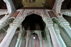 The Saadian tombs. Columns in Marrakech Royalty Free Stock Photography