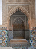 Saadian Tombs. MARRAKECH, MOROCCO - JANUARY 23, 2014: The Saadian Tombs dating back from the time of sultan Ahmad al Mansur were discovered and restored in 1917 Royalty Free Stock Images