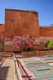 Saadian tombs in Marrakech. The Saadian tombs in Marrakech. The tombs were discovered in 1917 and restored. The  beauty of their decoration makes it an important Royalty Free Stock Photography