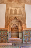 Saadian tombs in Marrakech. The Saadian tombs in Marrakech. The tombs were discovered in 1917 and restored. The  beauty of their decoration makes it an important Royalty Free Stock Images