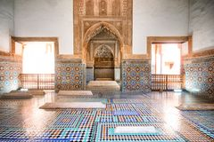 Saadiangraven, Marrakech, Marocco royalty-vrije stock foto