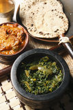 Saag Bhaji -从印度的一道蔬菜菜肴。 免版税库存照片