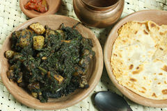 Saag Paneer it is a north Indian vegetable Royalty Free Stock Photography
