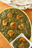 Saag prawn it is a north Indian vegetable Royalty Free Stock Photo