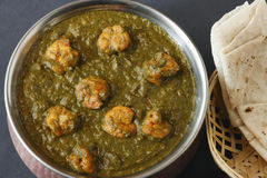 Saag prawn it is a north Indian vegetable Stock Images