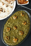 Saag prawn it is a north Indian vegetable Stock Photography