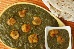 Saag prawn is a north Indian vegetable Royalty Free Stock Image