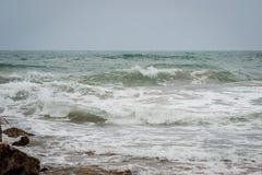 Saaidia海滩和波浪 库存图片
