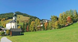 Saalbach-Hinterglemm Salzburger land, Österrike fotografering för bildbyråer