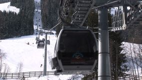 Saalbach-hinterglemm Ski elevator stock video footage