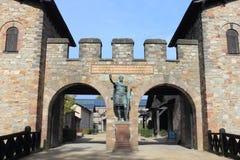 Saalburg Tyskland Arkivbild