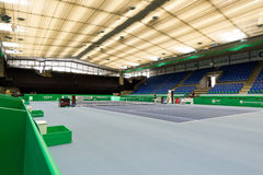 Saalsporthalle prepared for Zurich Open 2012 Stock Photos