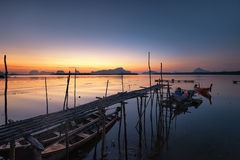 Saam-Chong-Tai Fisherman Village Stock Afbeeldingen